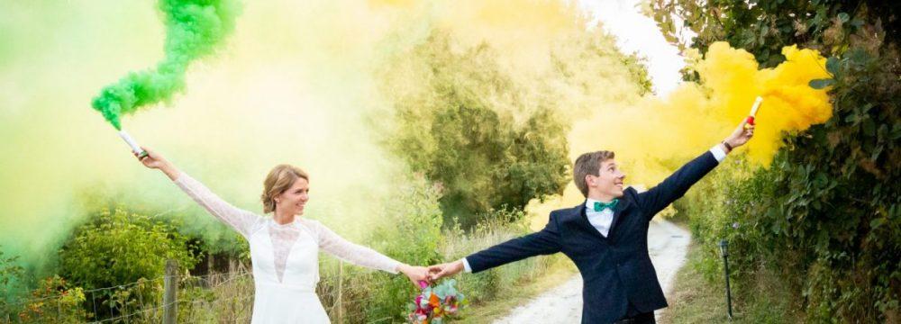 marié avec fumée
