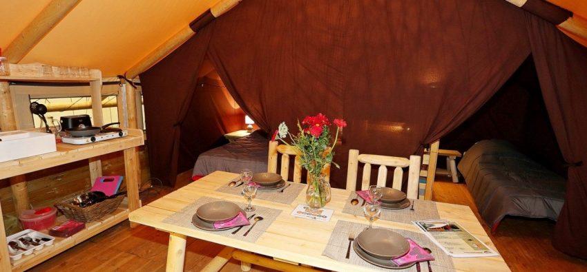 Tente Lodge Robinson séjour