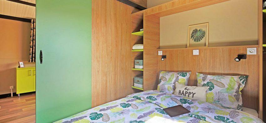 Chalet Morea chambre grand lit