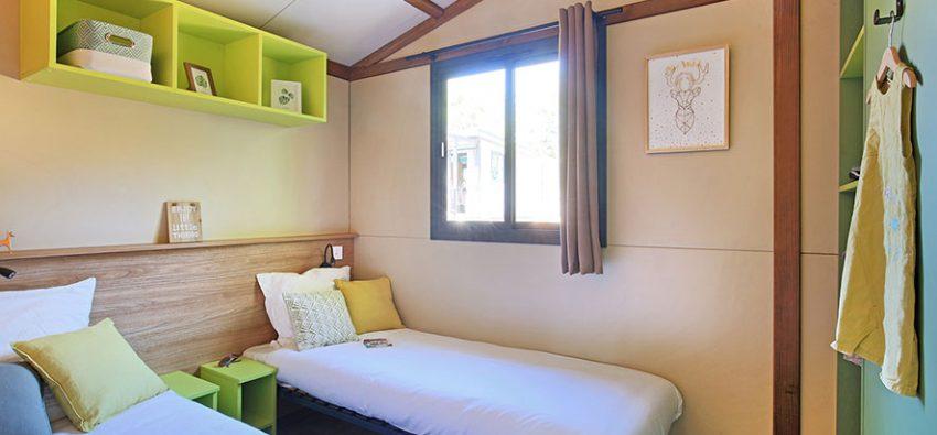 Chalet Portland chambre lits bas