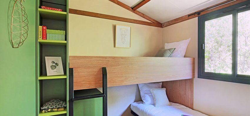 Chalet Portland chambre lits angle