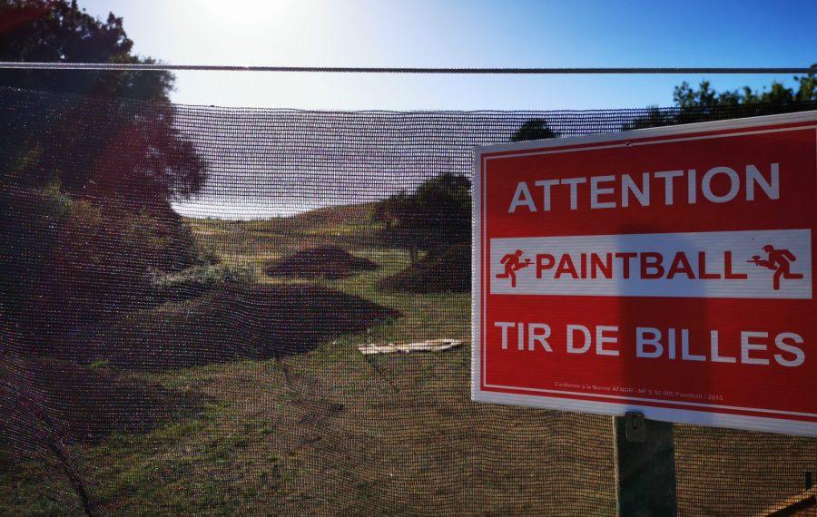 Terrain de paintball