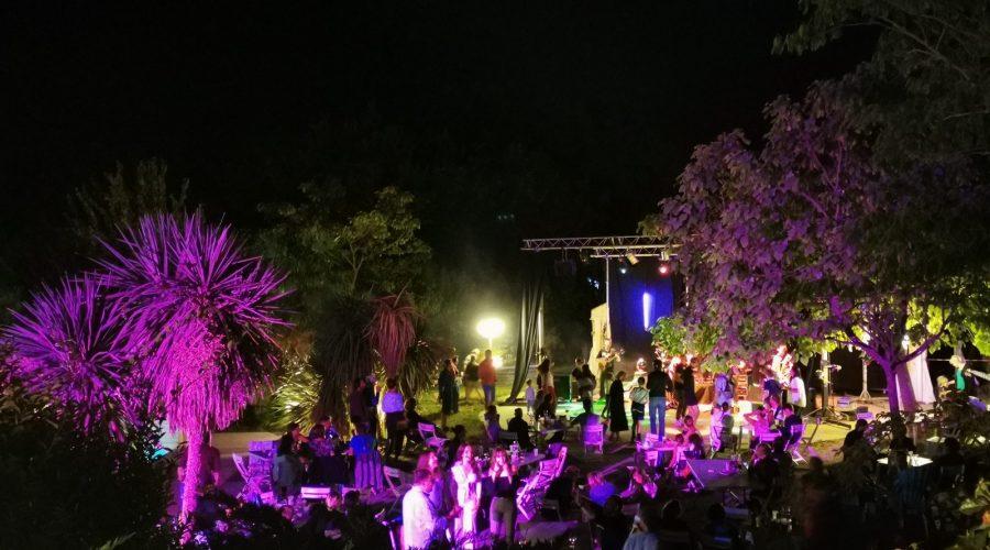 soirée concert dans le parc aquatique